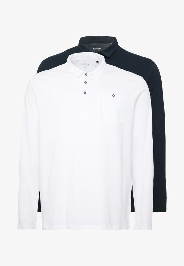 Burton Menswear London 2 PACK - Koszulka polo - navy/granatowy Odzież Męska AVKJ