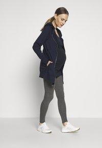 GAP Maternity - NEW ESSENTIAL BRUSHED ZIP HOODIE - Bluza rozpinana - navy uniform - 1
