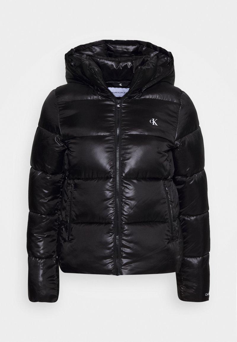 Calvin Klein Jeans - SHINY PUFFER - Winterjas - black