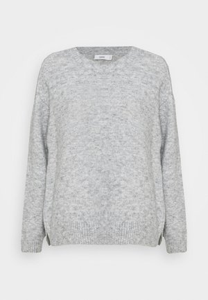 WOMEN - Strikpullover /Striktrøjer - light grey melange