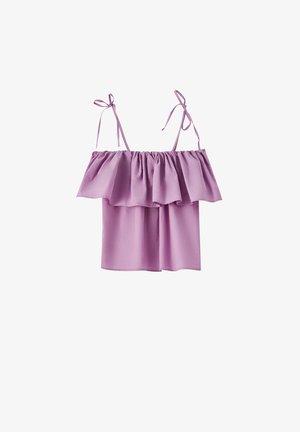 Long sleeved top - mottled purple