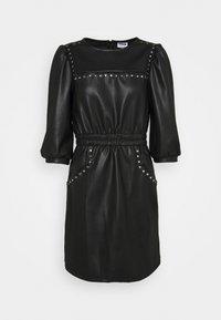 Noisy May - NMHILL SLEEVE STUD DRESS - Sukienka letnia - black - 5