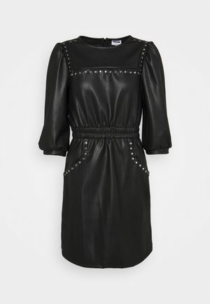 NMHILL SLEEVE STUD DRESS - Denní šaty - black