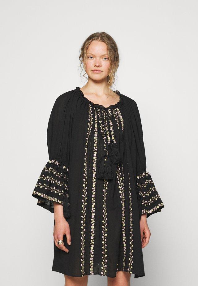 EMBROIDERY DRESS - Vestito estivo - black