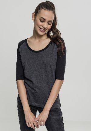 Camiseta estampada - charcoal/black