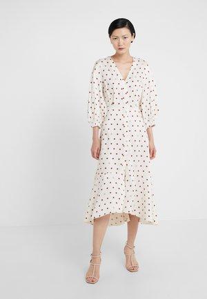 VIVIAN - Vestido camisero - off white/burgundy