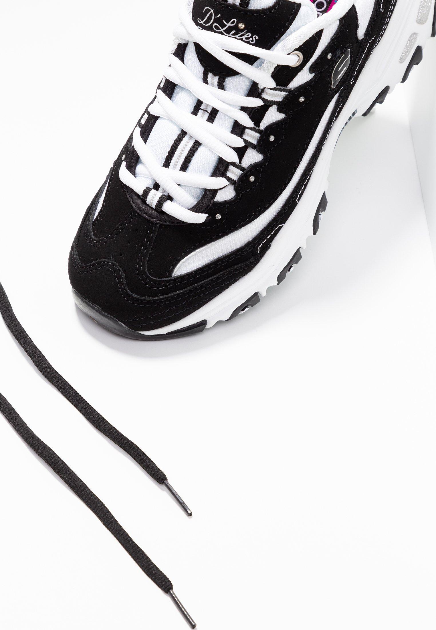 Skechers Sport D'LITES Joggesko blackwhitesilversvart