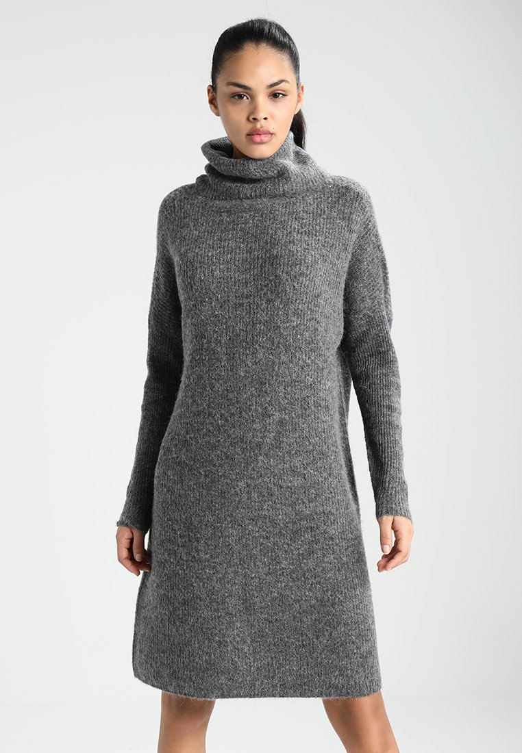 ONLY - ONLJANA COWLNECK DRESS  - Jumper dress -  grey