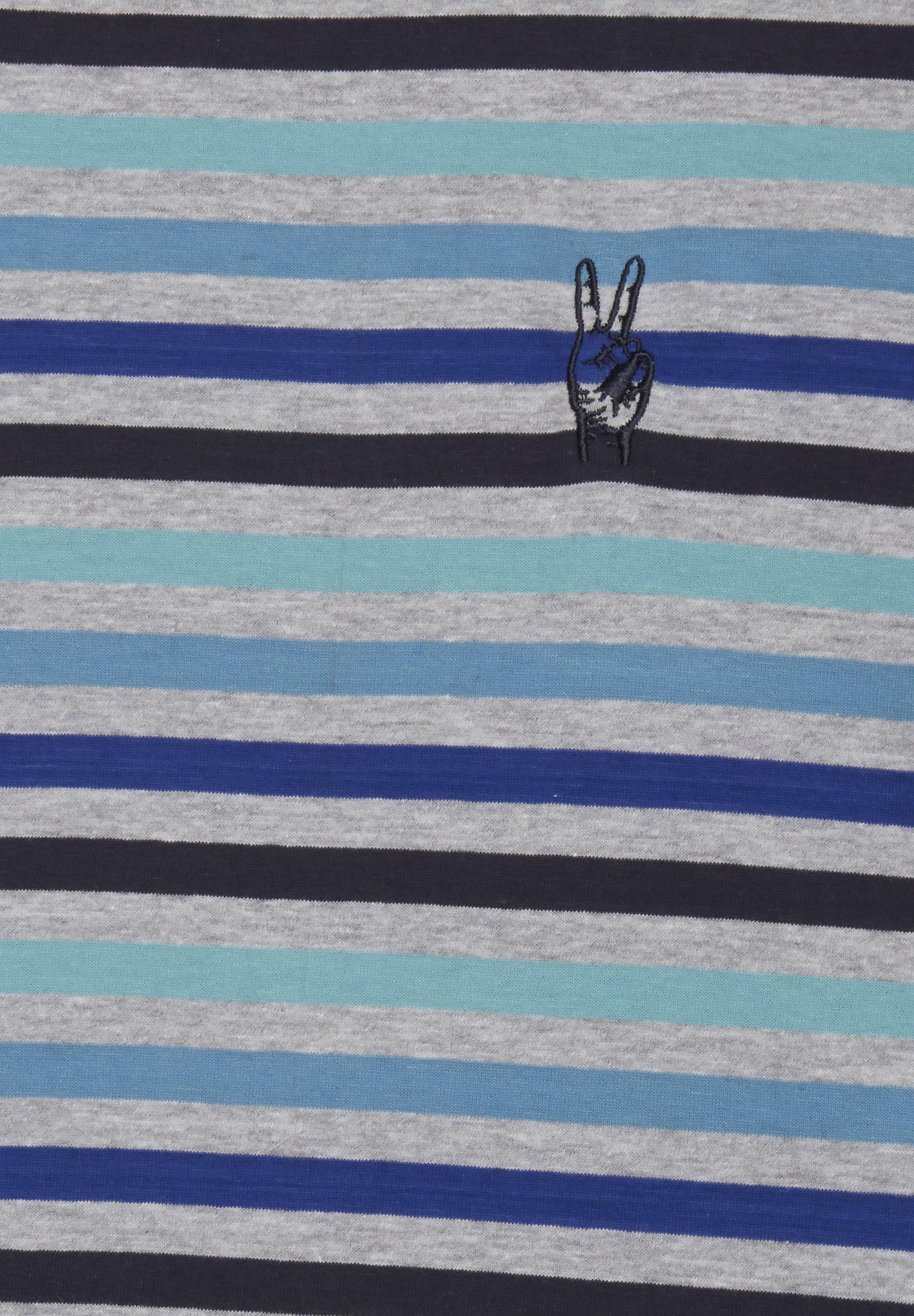 Blend SLIM FIT - Print T-shirt - mottled light grey yd51w