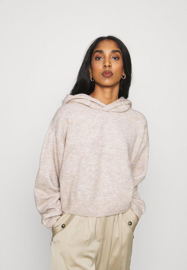 AMBRA HOODIE - Sweter - mole melange