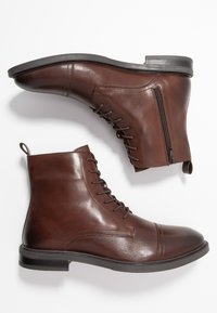 Zign - LEATHER - Lace-up ankle boots - brown - 1
