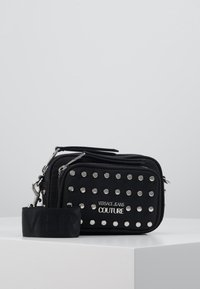 Versace Jeans Couture - STUDDED CAMERA - Across body bag - black - 0