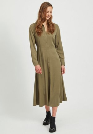 OBJBAYA  - Shirt dress - burnt olive