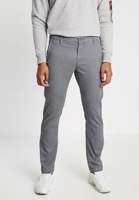 DOCKERS - WASHED KHAKI SLIM - Chinos - burma grey - 0