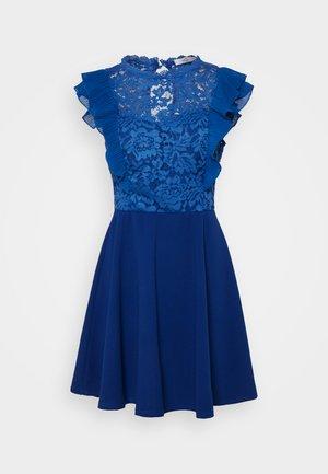 HUMERA LACE SKATER DRESS - Trikoomekko - electric blue
