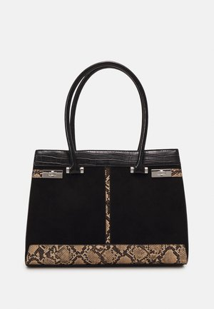 SNAKE CROC TOTE - Shoppingveske - black