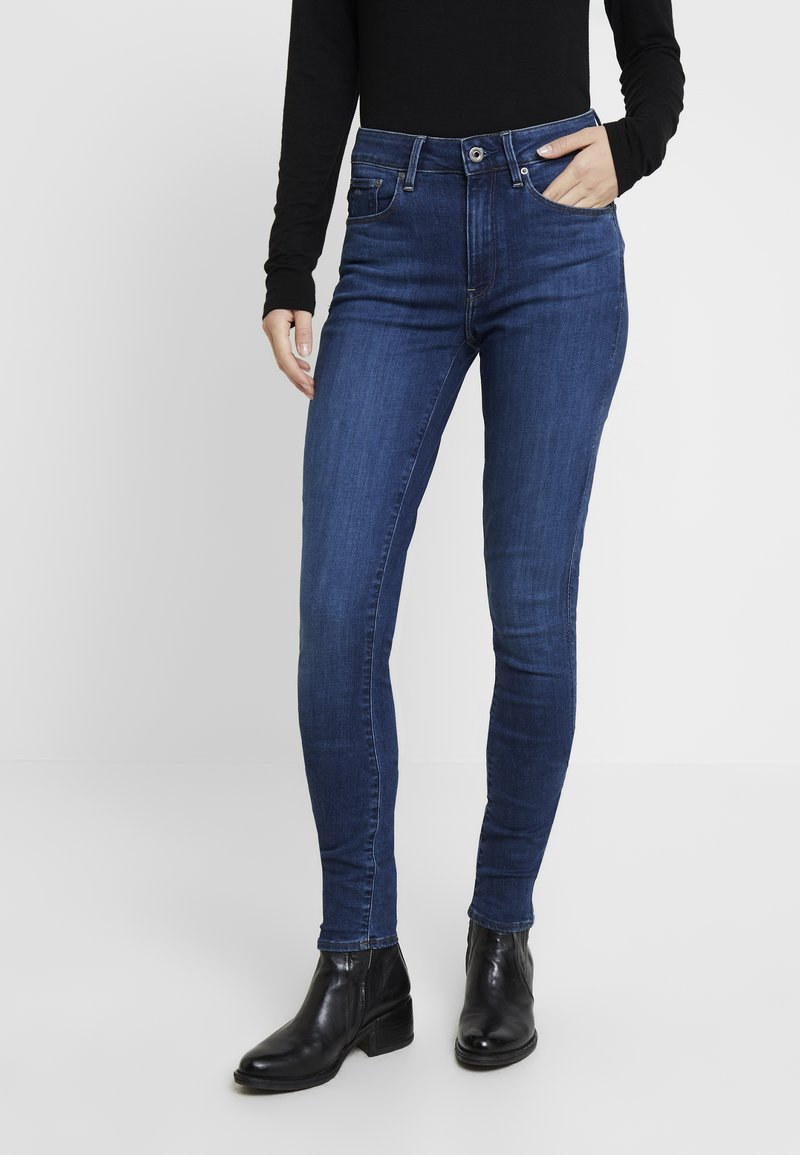 G-Star - 3301 HIGH SKINNY - Jeans Skinny Fit - medium blue aged
