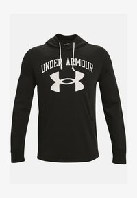 Under Armour - RIVAL TERRY BIG LOGO HD-WHT - Hoodie - black - 3