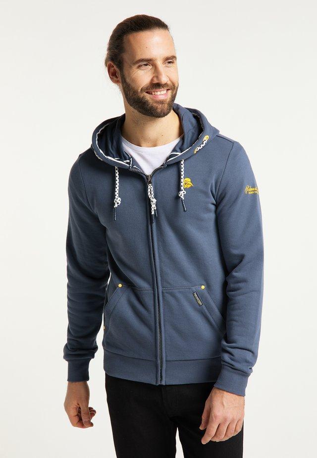 Zip-up hoodie - rauch marine