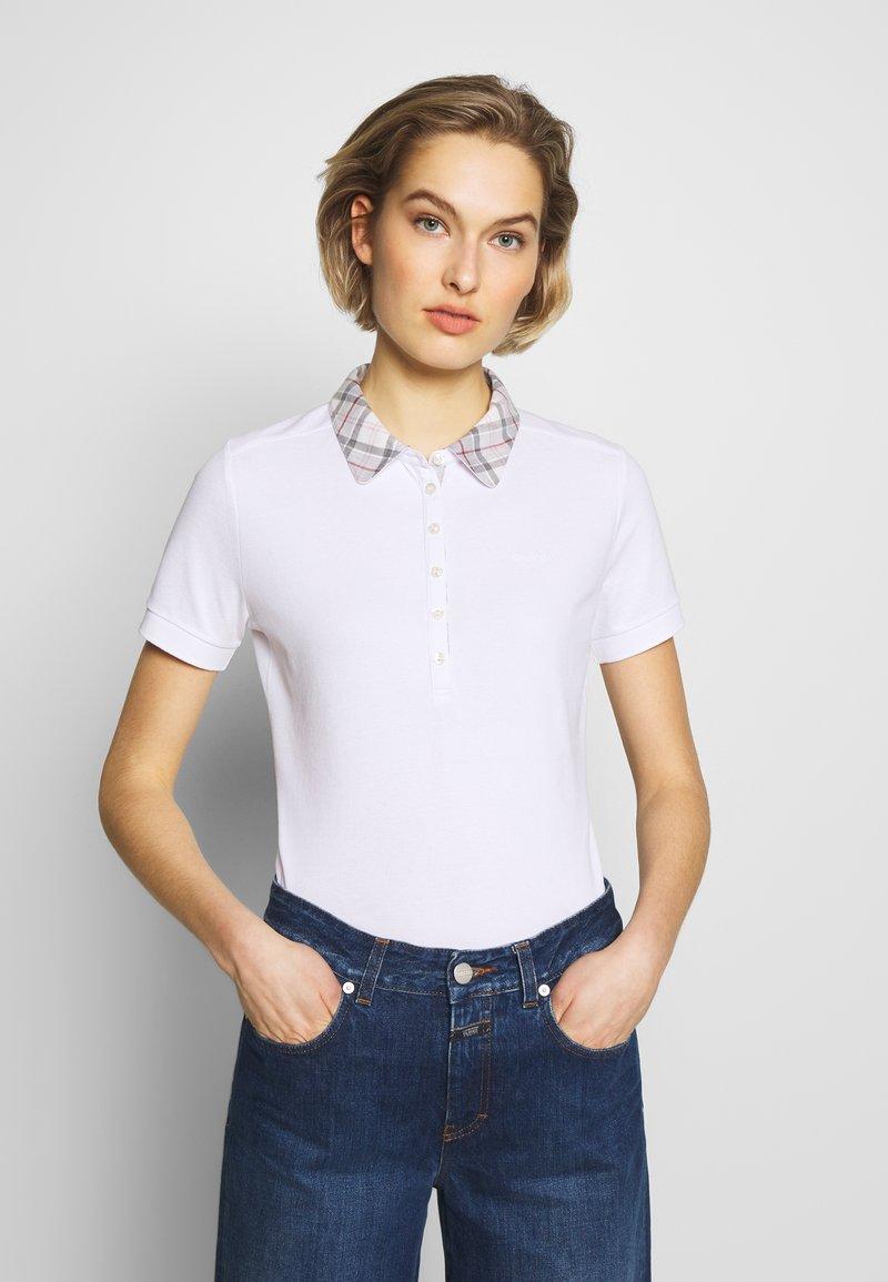 Barbour - MALVERN - Polo shirt - white/platinum