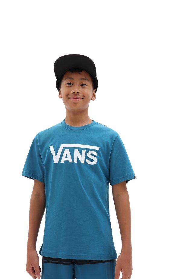 BY VANS CLASSIC BOYS - Print T-shirt - moroccan blue/white