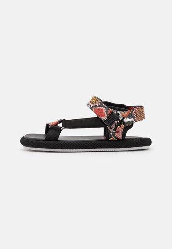 PRINT SPORTY - Sandals - black