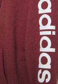 adidas Performance - Zip-up hoodie - legred/white - 2