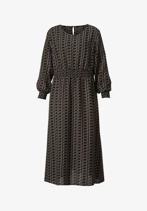 Jersey dress - schwarz,sand