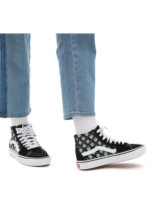 UA COMFYCUSH  - High-top trainers - (scribble flower)daisyblk