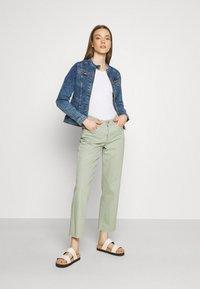 ONLY - ONLTIA BANDIT BIKER JACKET - Denim jacket - medium blue denim - 1