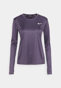 MILER - Sports shirt - dark raisin/silver