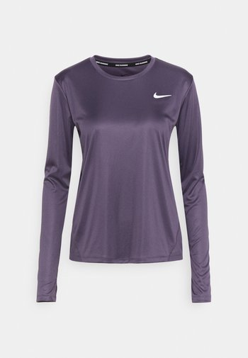 MILER - Camiseta de deporte - dark raisin/silver