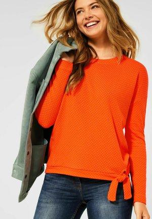 DOUBLEFACE - Long sleeved top - orange