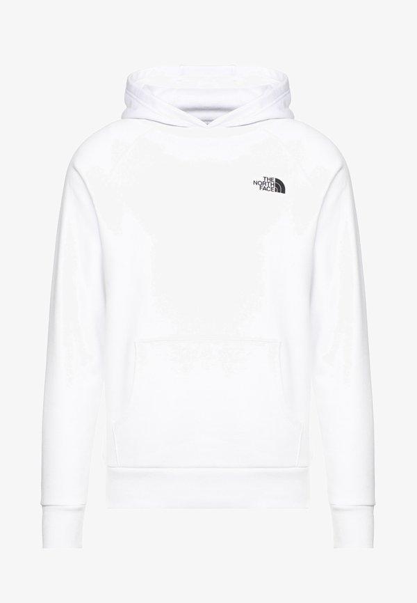 The North Face RAGLAN HOODIE - Bluza z kapturem - white/biały Odzież Męska UQFO