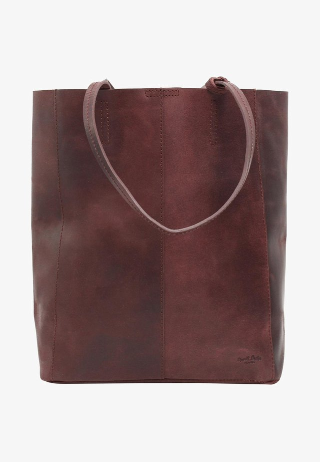 Shopper - burgundy