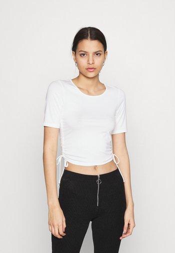 HOSS DRAWSTRING DETAIL - Basic T-shirt - white