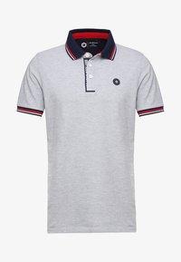 Polo shirt - light grey melange
