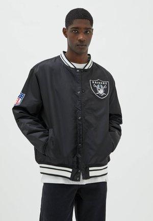 NFL - Bomberjacka - mottled black