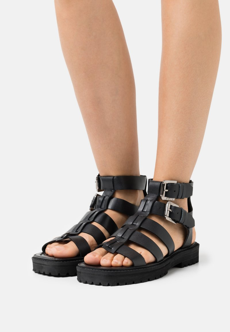 ASRA - STARK - Sandals - black