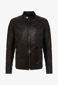 Tigha - QUENTIN - Veste en cuir - black - 4
