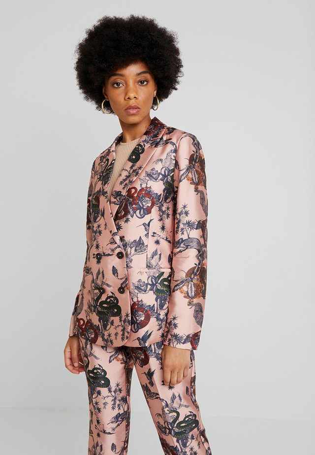 PRINTED DOUBLE BREASTED - Blazer - pink