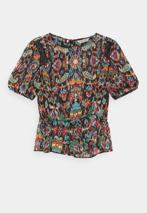 Print T-shirt - melis bleu marine