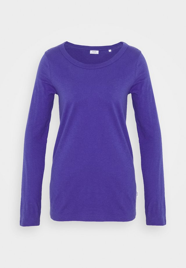 LONG SLEEVE CREW NECK SLIM FIT - Long sleeved top - cool purple