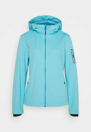 WOMAN JACKET ZIP HOOD - Giacca softshell - pool
