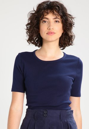 CREWNECK ELBOW SLEEVE - T-shirt basic - navy