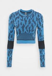 Long sleeved top - blue/black