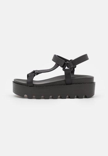 VEGAN AMARI BARELY THERE  - Platform sandals - black