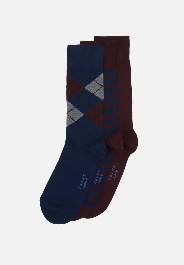HAPPYBOX 3 PACK - Socks - red/blue