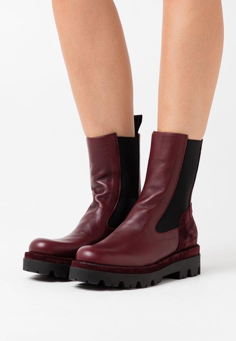 lilimill - ASTRID - Platform ankle boots - sidney magenta