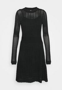 JOYCE DRESS 2-IN-1 - Strikkjoler - black